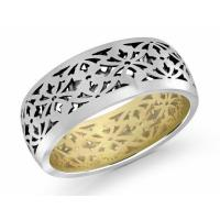 men's 18k openwork wedding ring