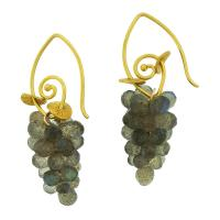 CLARE ULLMAN: LABRADORITE CLUSTER DROP EARRINGS
