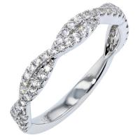 Lady's White 14 Karat Twist Anniversary Ring