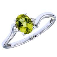 Lady's White 14 Karat Bypass Fashion Ring