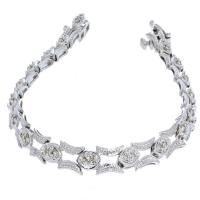 14K White Gold .35 cttw Diamond Bracelet