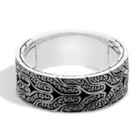 John Hardy Classic Chain Sterling Silver & Black Sapphire Band Ring