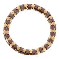pesavento lux brown & rose gold vermeil ceramic scale bracelet