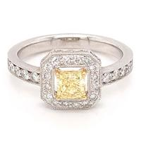 14kt white gold and yellow gold