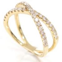 18k yg diamond ring