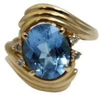 topaz gold ring