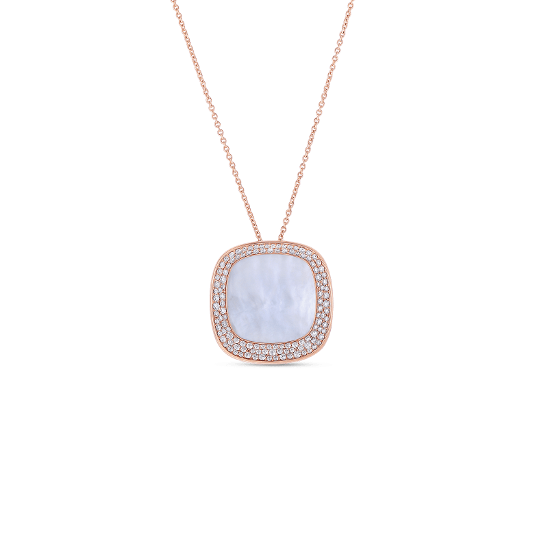 Roberto Coin Large Pendant with Mother of Pearl and Diamonds