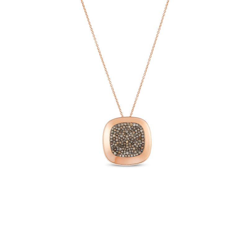 Roberto Coin Large Pendant with Brown Diamonds