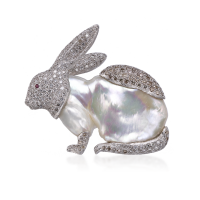 Buccellati Rabbit Brooch