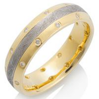Chris Ploof  Canopus Meteorite with 18K Yellow Gold and 22 Diamonds