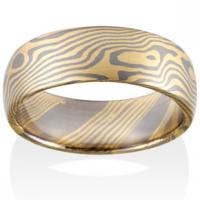 Chris Ploof  Maple Mokume in 18K Yellow Gold and Pd500