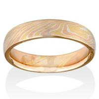 Chris Ploof  Birch Mokume in 14K Red Gold, 18K Yellow Gold and Silver