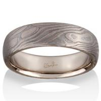 Chris Ploof  Maple Mokume in 14K Pd White Gold and Meteorite