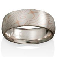 Chris Ploof  Aspen Mokume in Silver and 14K Red Gold
