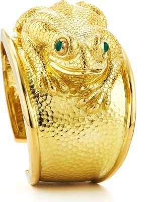 Repouss Frog Cuff