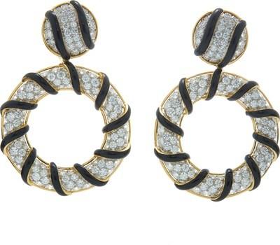 candy stripe earrings
