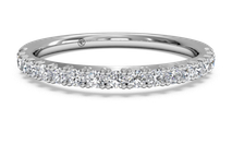 women's french-set diamond wedding ring