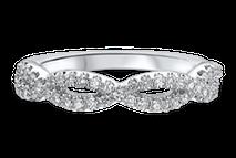 Masterwork Diamond Twist Wedding Ring