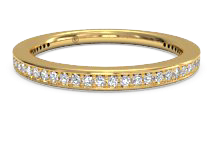 women's micropavé diamond eternity wedding ring