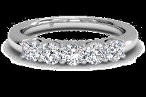 Women's Five-Stone Diamond Wedding Ring