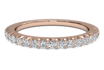 Women's open micropavé diamond eternity wedding ring