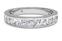 Women's channel-set diamond eternity wedding ring