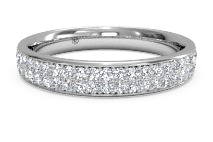 Women's Double Micropavé Diamond Wedding Ring