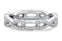 women's half-diamond twist wedding band