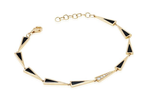 EF Collection Diamond and Onyx Dagger Bracelet