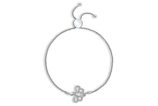 Diamond Bumblebee Charm Bracelet