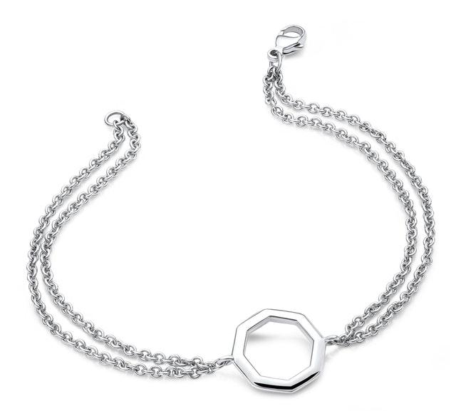 Ritani Signature Octagon Double Chain Bracelet
