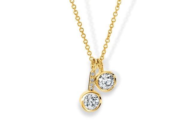 Two-Stone Diamond Pendant
