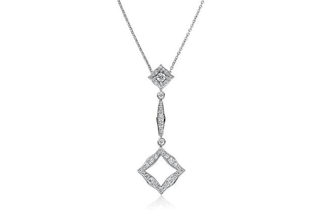 Diamond-Shaped Drop Pendant