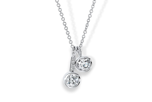 Two-Stone Diamond Pendant