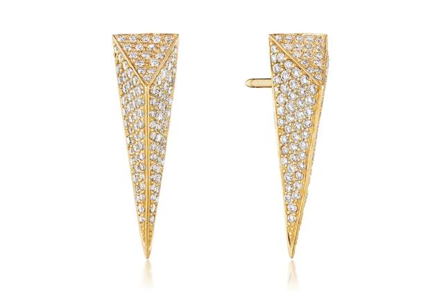 wonderland diamond stinger stud earrings (small)