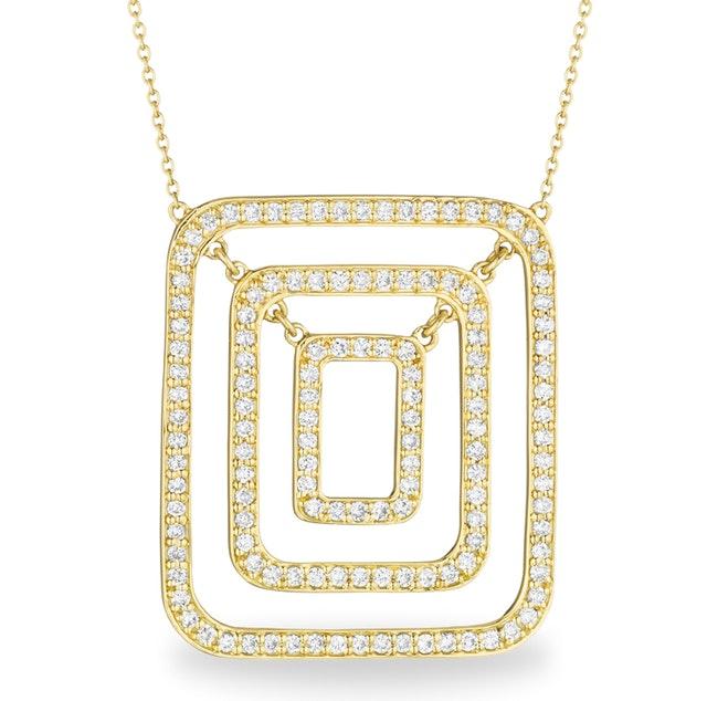 Piece Swing Diamond Necklace