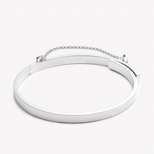 EXTRA THIN SAFETY CHAIN BRACELET SILVER