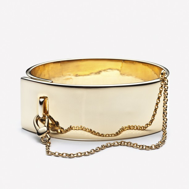 SAFETY CHAIN CUFF GOLD