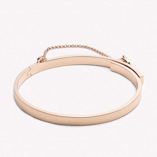 EXTRA THIN SAFETY CHAIN BRACELET ROSE GOLD