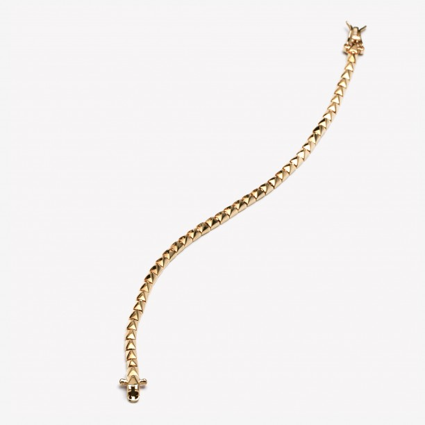 PYRAMID TENNIS BRACELET GOLD
