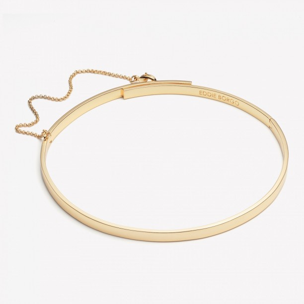 EXTRA THIN SAFETY CHAIN CHOKER GOLD