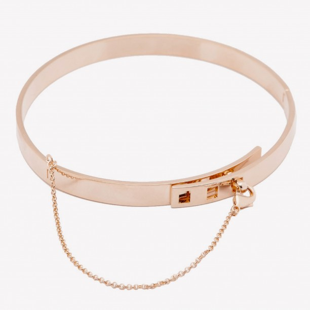 SMALL SAFETY CHAIN CHOKER ROSE GOLD