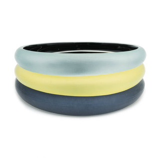 Tapered Bangle Bracelet 3 Stack Set