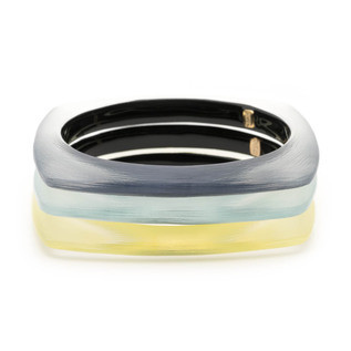 Soft Square Bangle Bracelet 3 Stack Set