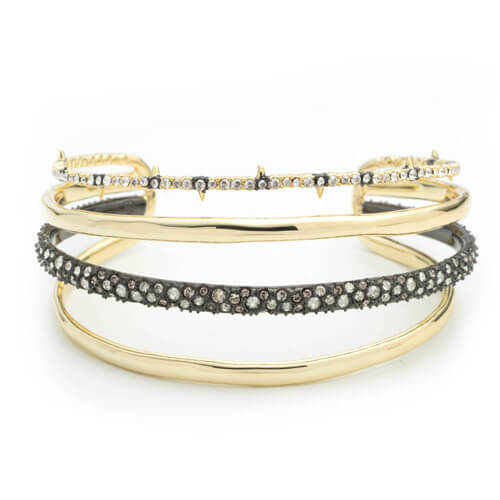 Crystal Encrusted Orbiting Cuff Bracelet