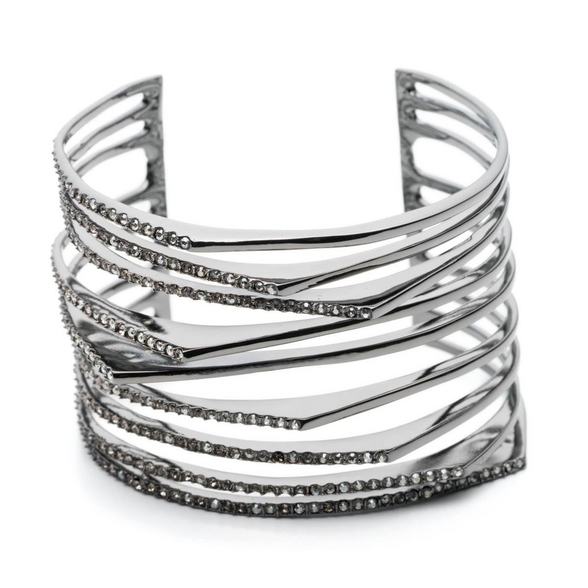 Crystal Encrusted Origami Peeks Cuff Bracelet