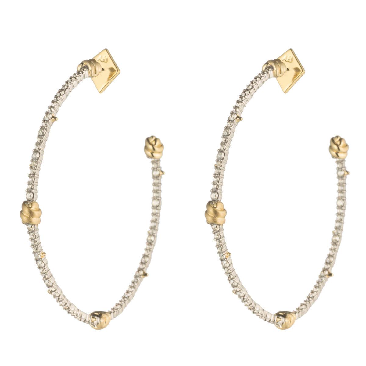 Crystal Knot Hoop Earring