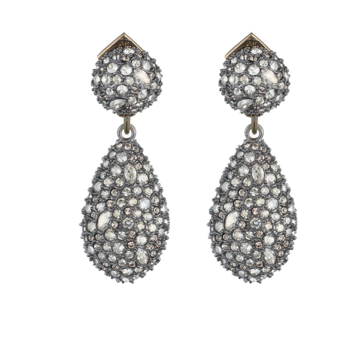 Crystal Encrusted Dangling Earring
