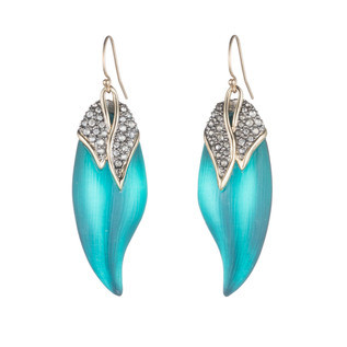 Crystal Encrusted Capped Feather Earring