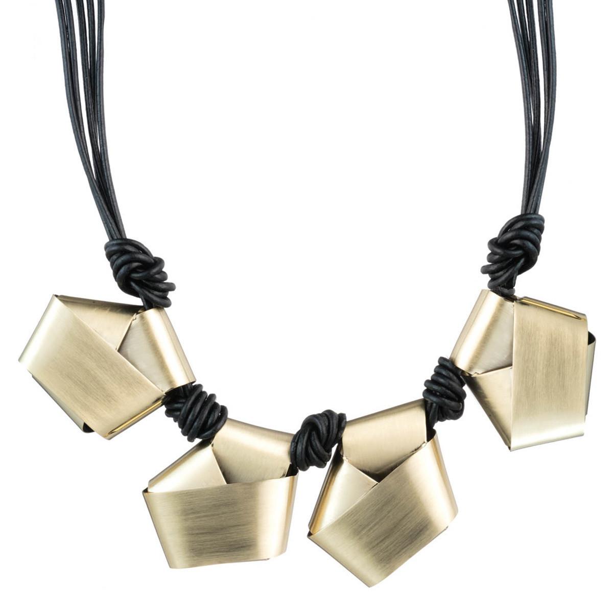folded knot reversible necklace